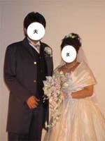 1年目の結婚写真