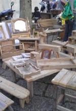 流木の家具