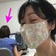 手作りマスクをいただいて......。